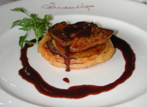 "Foie Gras and apple ""Tatin"""