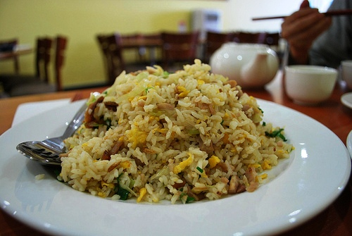 Hakka lunch culinarygypsy for Fish fried rice