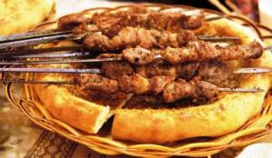 Lamb Kebab on flat bread