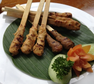 Beef, Duck and Pork Satay