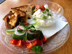 Labneh and toast