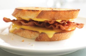 grilled bacon and cheese sandwich